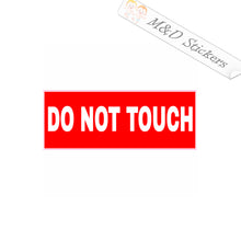 2x Don't touch sign Vinyl Decal Sticker Different colors & size for Cars/Bikes/Windows