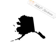 2x Alaska State Shape Vinyl Decal Sticker Different colors & size for Cars/Bikes/Windows