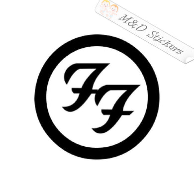2x Foo Fighters Logo Vinyl Decal Sticker Different colors & size for Cars/Bike