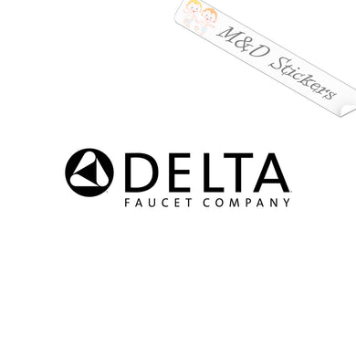 2x Delta Logo Vinyl Decal Sticker Different colors & size for Cars/Bikes/Windows