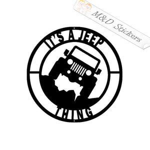 2x It's a Jeep Thing Vinyl Decal Sticker Different colors & size for Cars/Bikes/Windows