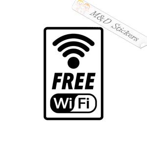 2x Wi-Fi sign Vinyl Decal Sticker Different colors & size for Cars/Bikes/Windows