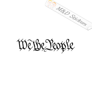 2x We the People Constitution Phrase Vinyl Decal Sticker Different colors & size for Cars/Bikes/Windows