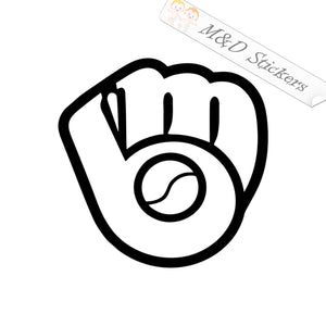 2x Baseball glove Vinyl Decal Sticker Different colors & size for Cars/Bikes/Windows