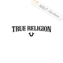 2x True Religion Logo Vinyl Decal Sticker Different colors & size for Cars/Bikes/Windows