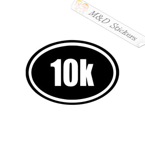 2x 10K run Sport Vinyl Decal Sticker Different colors & size for Cars/Bikes/Windows