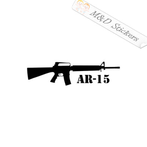 2x AR-15 Automatic weapon Vinyl Decal Sticker Different colors & size for Cars/Bikes/Windows