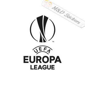 2x Europa League Soccer Vinyl Decal Sticker Different colors & size for Cars/Bikes/Windows
