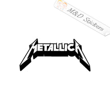 2x Metallica Logo Vinyl Decal Sticker Different colors & size for Cars/Bike