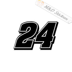 2x Jeff Gordon's 24 Vinyl Decal Sticker Different colors & size for Cars/Bikes/Windows