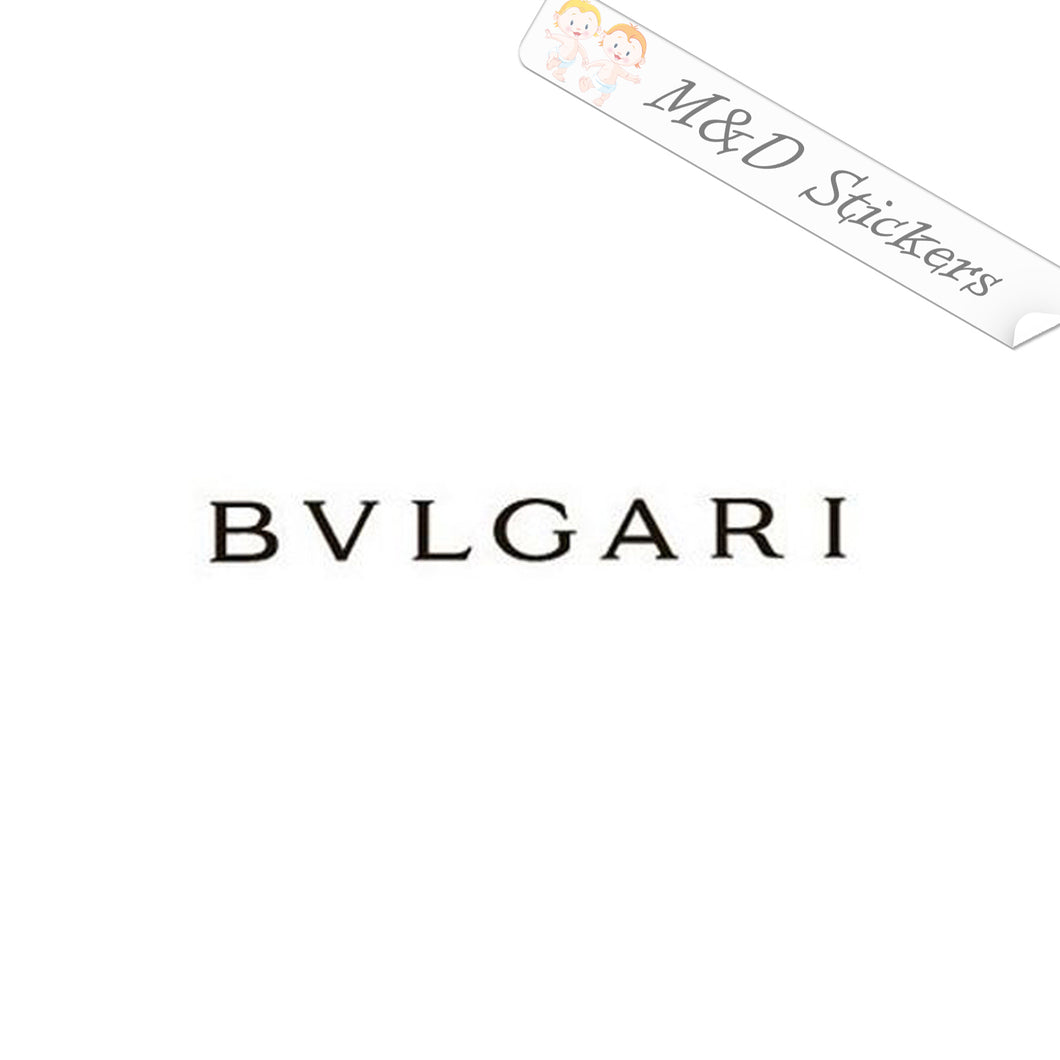 2x Bvlgari Bulgari Logo Vinyl Decal Sticker Different colors & size for Cars/Bikes/Windows