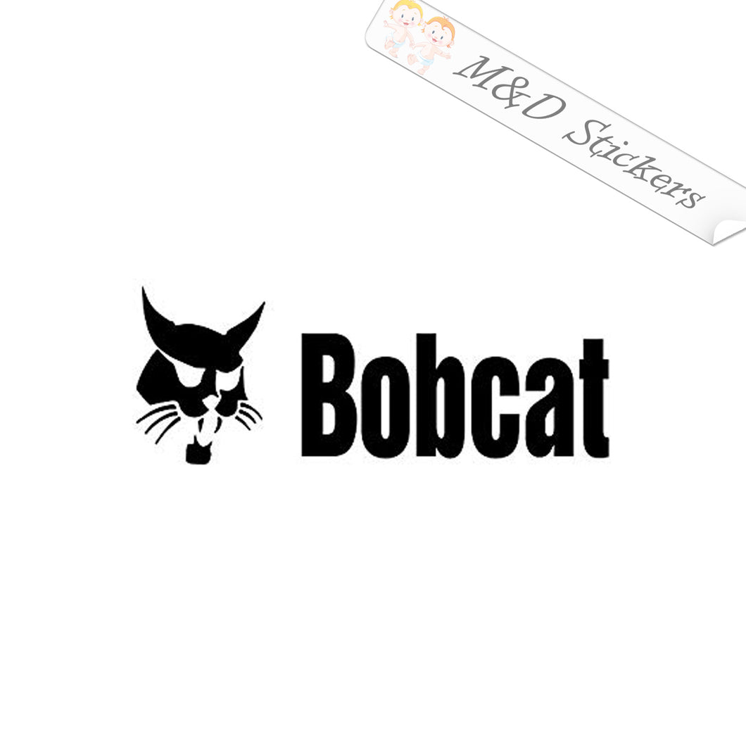 2x Bobcat Logo Vinyl Decal Sticker Different colors & size for Cars/Bikes/Windows