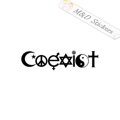 2x Coexist Sign Vinyl Decal Sticker Different colors & size for Cars/Bikes/Windows
