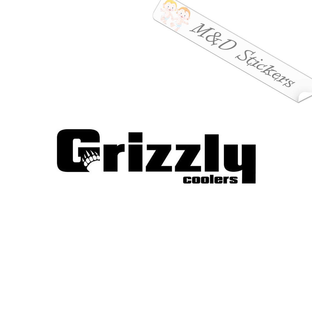2x Grizzly Logo Vinyl Decal Sticker Different colors & size for Cars/Bikes/Windows