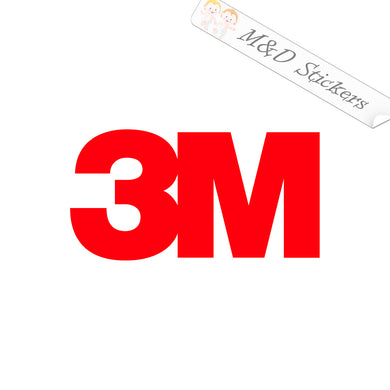 2x 3M Logo Vinyl Decal Sticker Different colors & size for Cars/Bikes/Windows