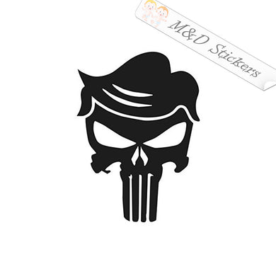 2x Trump Punisher Vinyl Decal Sticker Different colors & size for Cars/Bikes/Windows