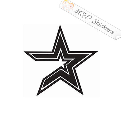 2x Houston Astros Vinyl Decal Sticker Different colors & size for Cars/Bikes/Windows