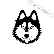2x Husky Dog Vinyl Decal Sticker Different colors & size for Cars/Bikes/Windows