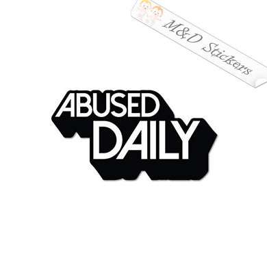 2x Abused Daily Vinyl Decal Sticker Different colors & size for Cars/Bikes/Windows