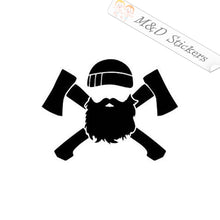 2x Lumberjack Vinyl Decal Sticker Different colors & size for Cars/Bikes/Windows
