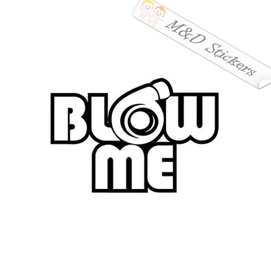 2x Turbo Boost Blow me Vinyl Decal Sticker Different colors & size for Cars/Bikes/Windows