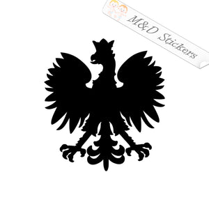 2x Polish Polska Eagle Flag Vinyl Decal Sticker Different colors & size for Cars/Bikes/Windows