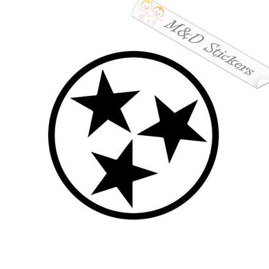 2x Tennessee State Flag Vinyl Decal Sticker Different colors & size for Cars/Bikes/Windows