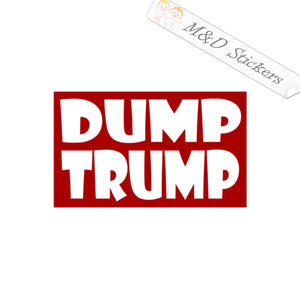 2x Dump Trump 2020 Election Vinyl Decal Sticker Different colors & size for Cars/Bikes/Windows