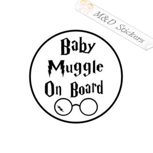 2x Baby muggle on board Vinyl Decal Sticker Different colors & size for Cars/Bikes/Windows