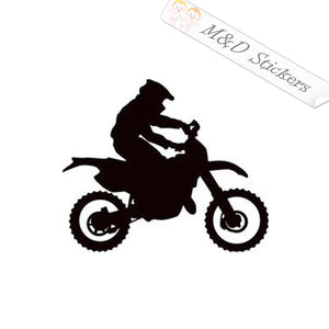 2x Motorcycle rider Vinyl Decal Sticker Different colors & size for Cars/Bikes/Windows
