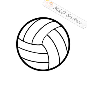 2x Volleyball ball Vinyl Decal Sticker Different colors & size for Cars/Bikes/Windows