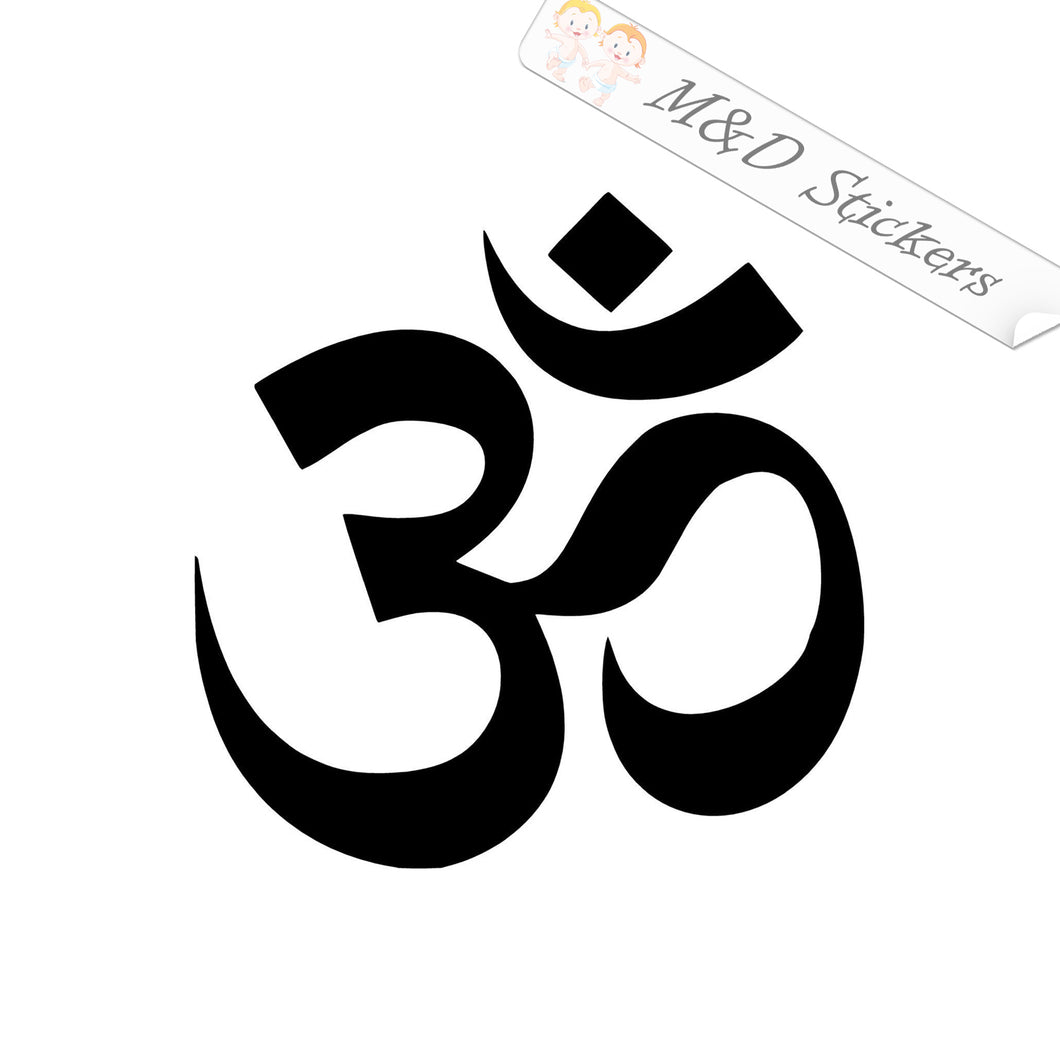2x Hinduism Om Religion Symbol Sign Vinyl Decal Sticker Different colors & size for Cars/Bikes/Windows