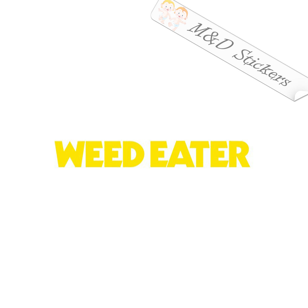 2x Weed Eater Logo Vinyl Decal Sticker Different colors & size for Cars/Bikes/Windows