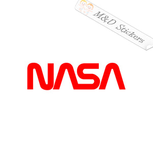 2x NASA Space agency logo Vinyl Decal Sticker Different colors & size for Cars/Bikes/Windows
