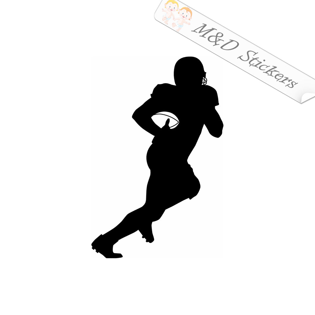 2x Football player Vinyl Decal Sticker Different colors & size for Cars/Bikes/Windows