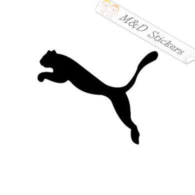 2x Puma Logo Vinyl Decal Sticker Different colors & size for Cars/Bikes/Windows