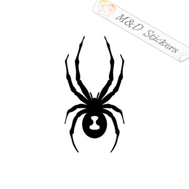 2x Spyder Logo Vinyl Decal Sticker Different colors & size for Cars/Bikes/Windows