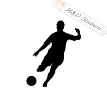 2x Soccer player Vinyl Decal Sticker Different colors & size for Cars/Bikes/Windows