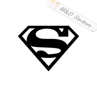 2x Superman Vinyl Decal Sticker Different colors & size for Cars/Bikes/Windows