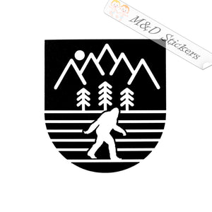 2x Yeti Bigfoot Badge Vinyl Decal Sticker Different colors & size for Cars/Bikes/Windows
