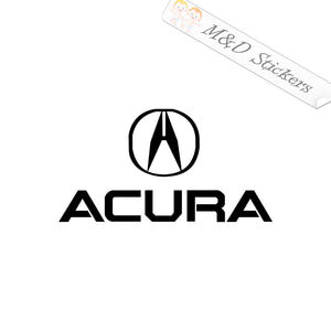 2x Acura Logo Vinyl Decal Sticker Different colors & size for Cars/Bikes/Windows
