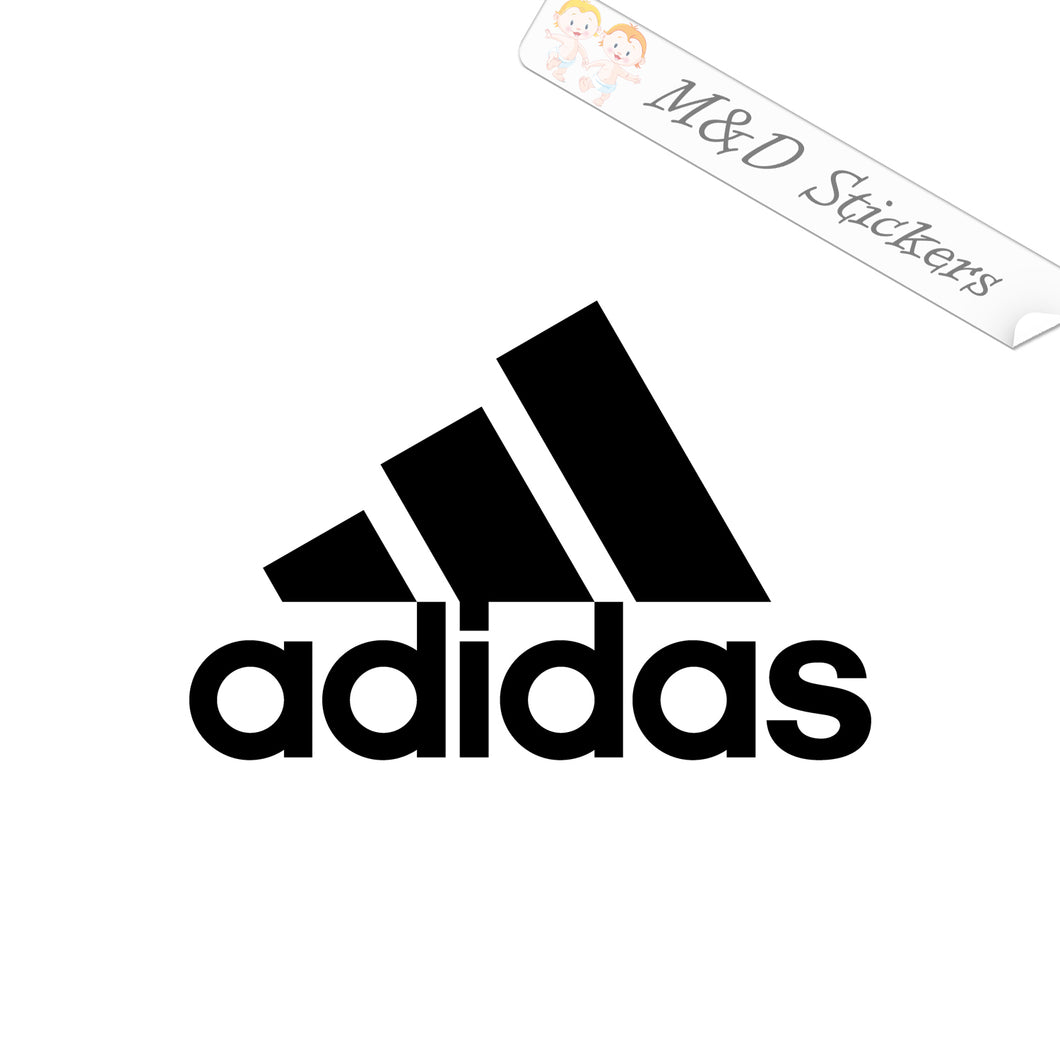 2x Adidas Logo Vinyl Decal Sticker Different colors & size for Cars/Bikes/Windows