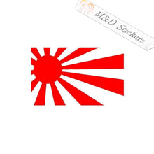 2x Japan Old Flag Rising Sun Vinyl Decal Sticker Different colors & size for Cars/Bikes/Windows