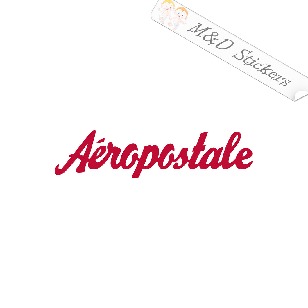 2x Aeropostale Logo Vinyl Decal Sticker Different colors & size for Cars/Bikes/Windows