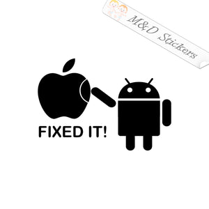 2x Android fixing Apple Vinyl Decal Sticker Different colors & size for Cars/Bikes/Windows