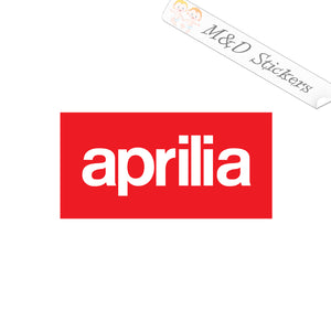 2x Aprilia Logo Vinyl Decal Sticker Different colors & size for Cars/Bikes/Windows