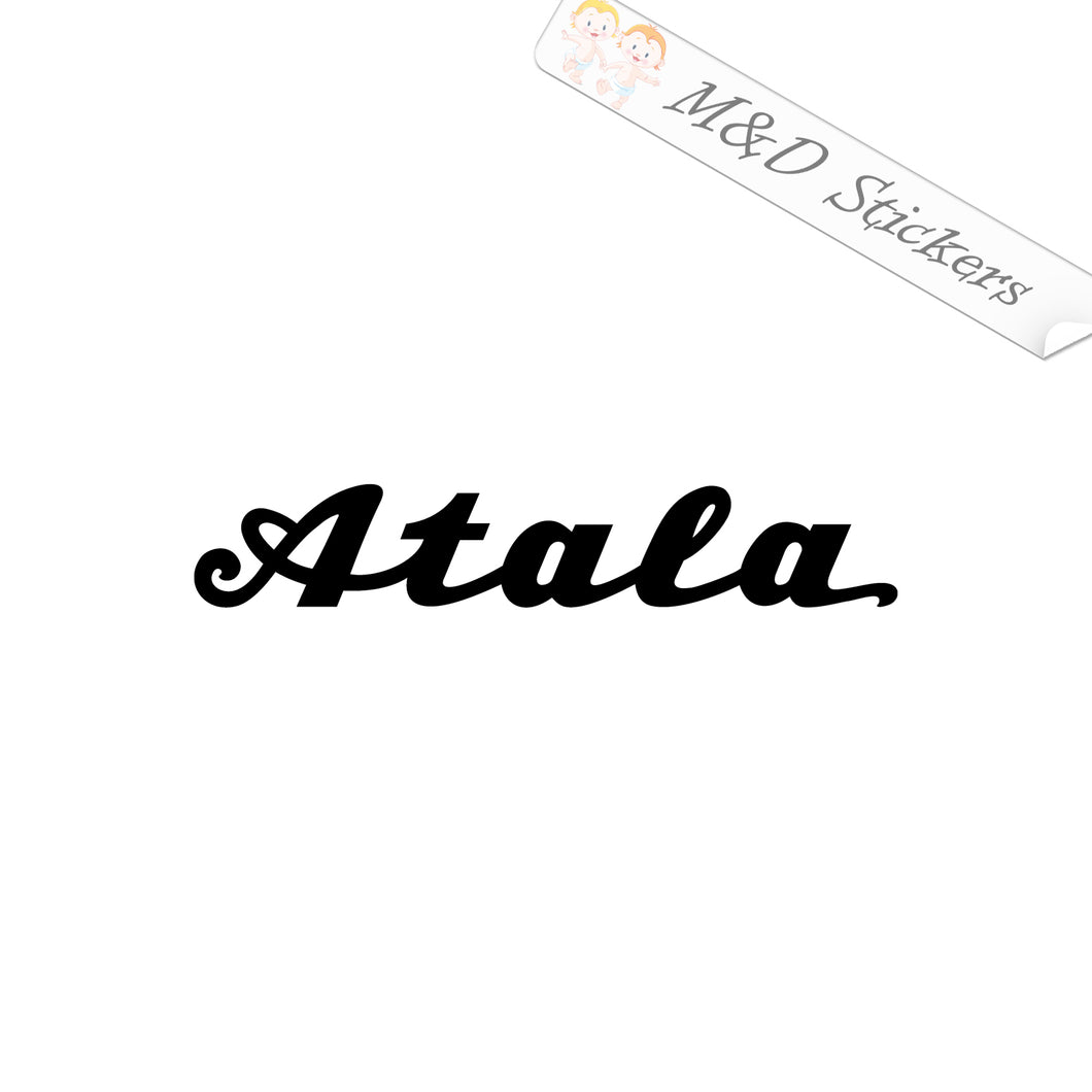 2x Atala Logo Vinyl Decal Sticker Different colors & size for Cars/Bikes/Windows
