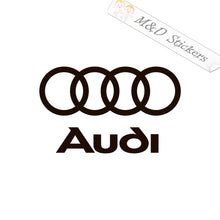 2x Audi Logo Vinyl Decal Sticker Different colors & size for Cars/Bikes/Windows