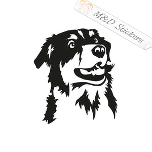 2x Australian sheppard Dog Vinyl Decal Sticker Different colors & size for Cars/Bikes/Windows