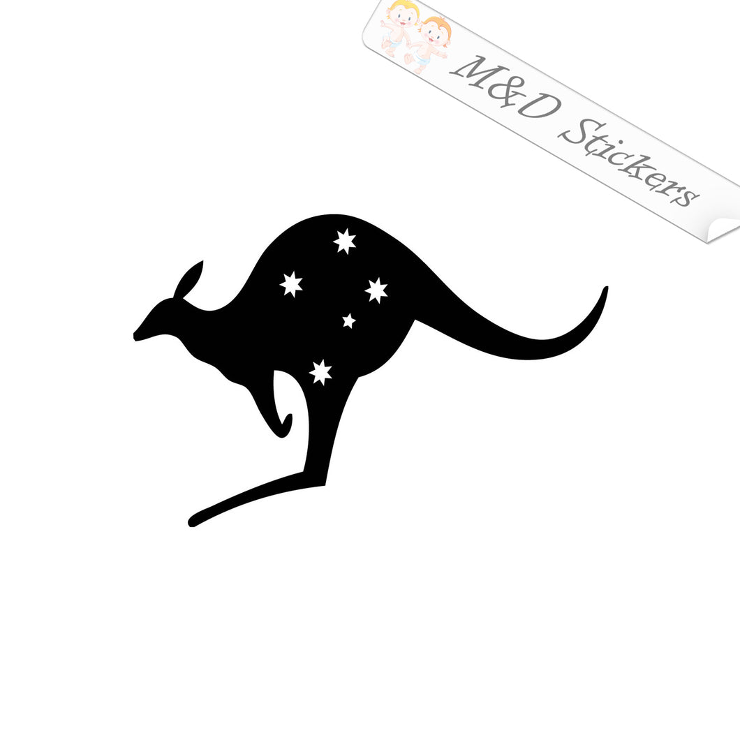 2x Australian Kangaroo Vinyl Decal Sticker Different colors & size for Cars/Bikes/Windows
